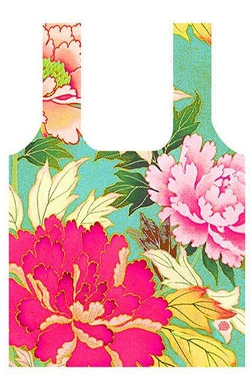 Anna Chandler Folding Shopping Bag - Kimono Flowers