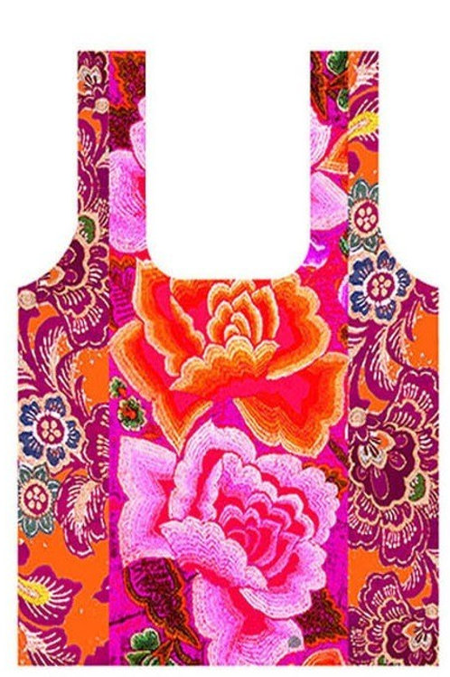 Anna Chandler Folding Shopping Bag - Mexican Roses