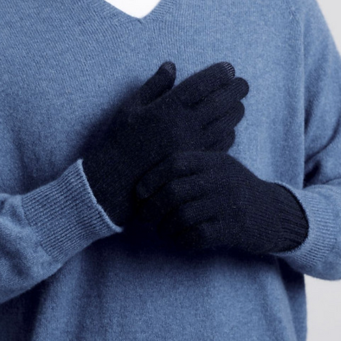 MERINO SNUG - Merino Wool & Possum Gloves - Navy