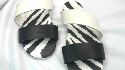 Zebra Sandals