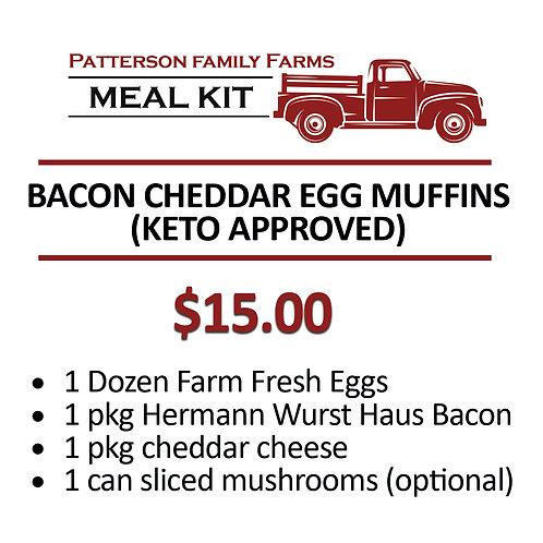 Bacon, Cheddar & Mushroom Egg Muffins