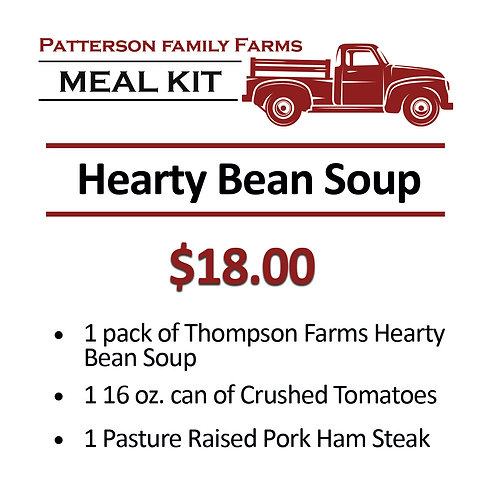 Hearty Bean Soup with Ham Steak