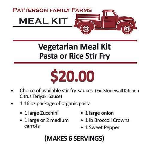 Meal Kit --Vegetarian Pasta or Rice Stir Fry