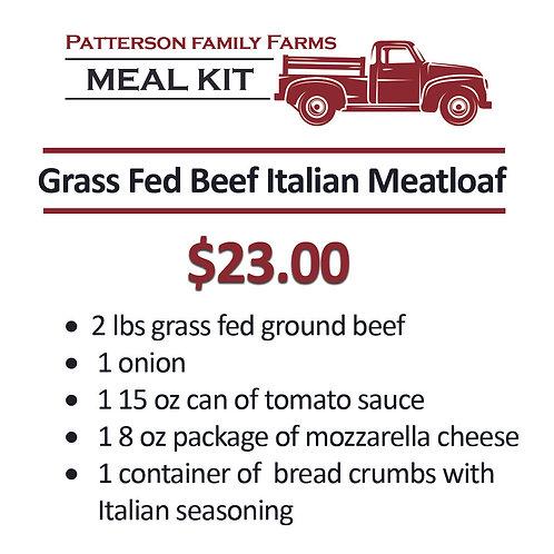 Grass Fed Beef Italian Meatloaf Kit