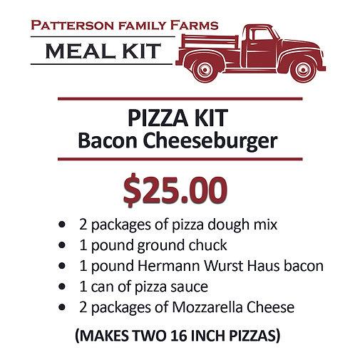 Pizza Kit -- Two (2) Bacon Cheeseburger Pizza