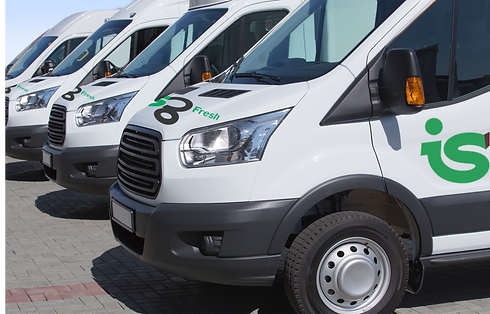 ISG Fresh delivery vans