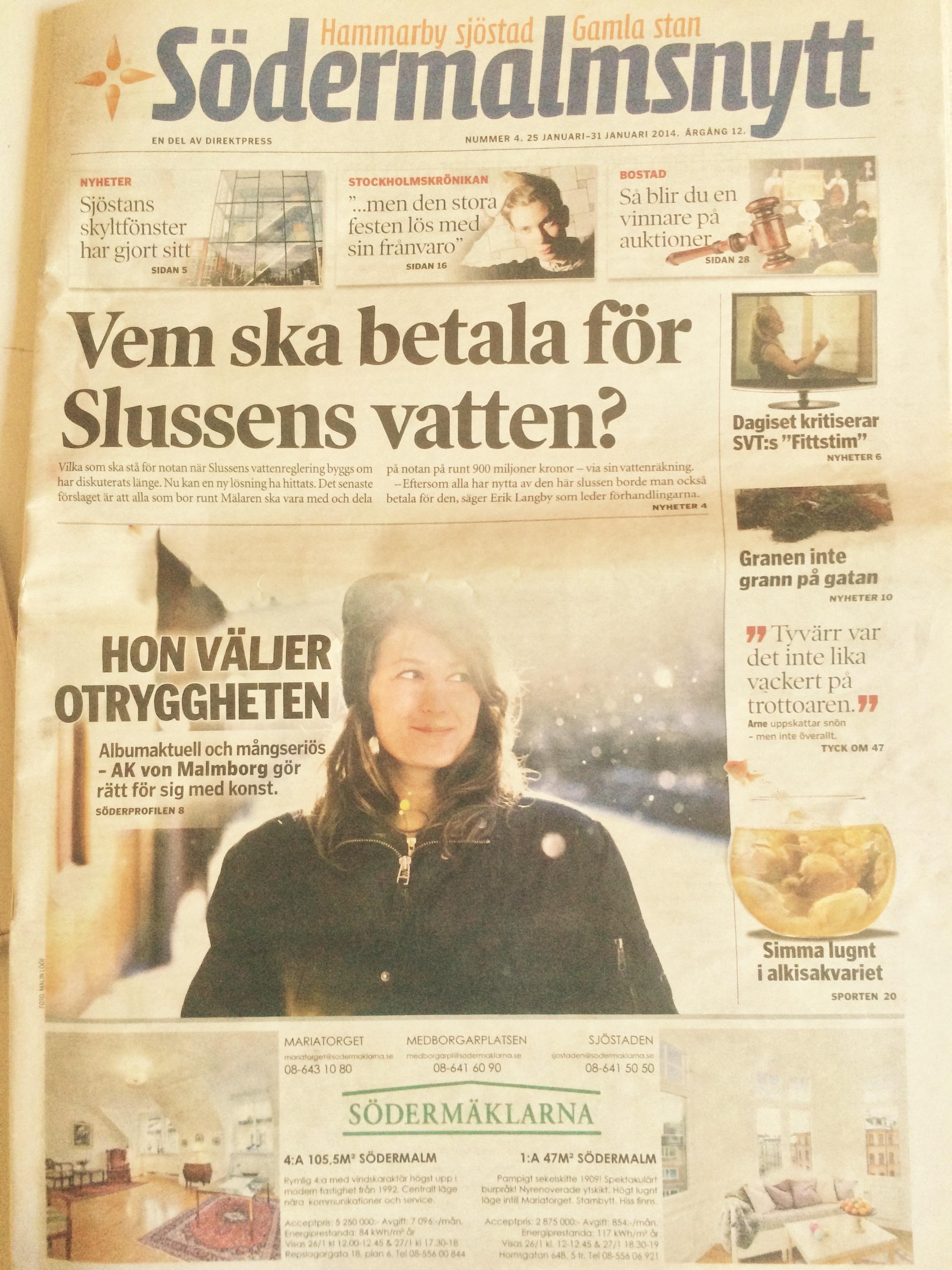 Front page Södermalmsnytt