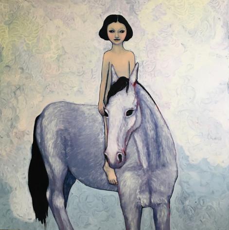 Flicka med häst (Girl with horse)