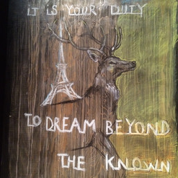it´s your duty to dream beyond the known