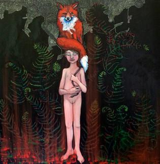 Flicka med räv (Girl with fox)