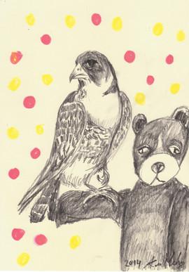 Falconeer bear