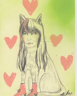Jennie Abrahamsson as a cat