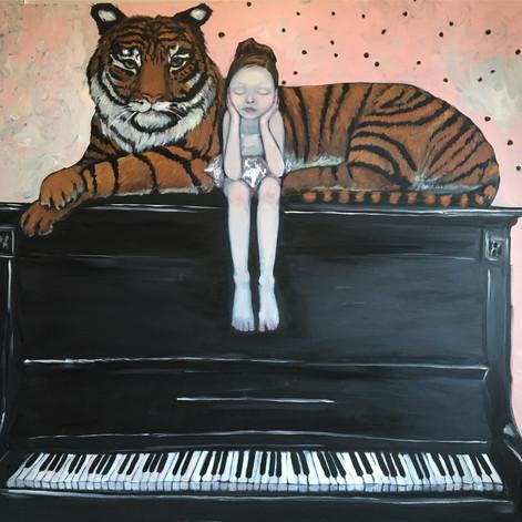 Girl on Piano