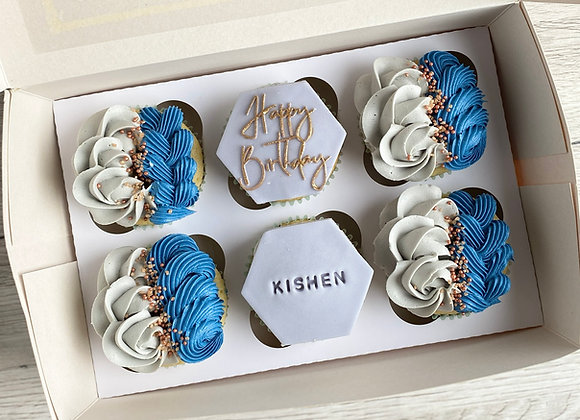 6 Personalised Cupcakes - Collection Only