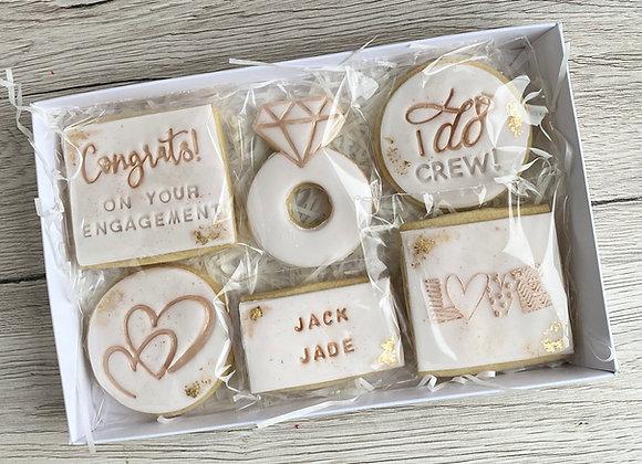 Personalised Engagement Cookie Box - Vegan Friendly