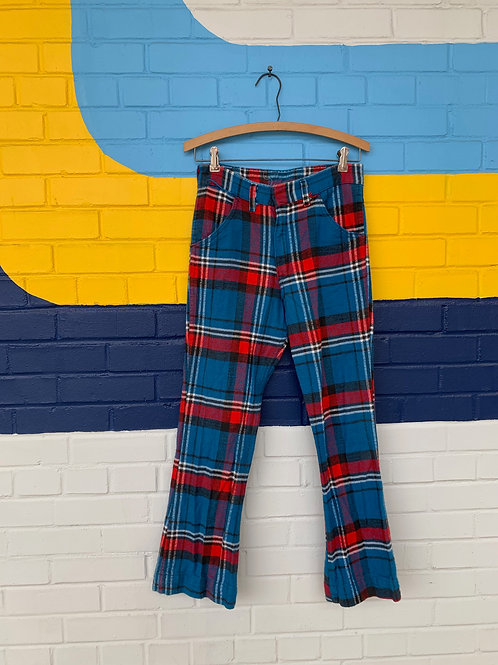 70's Plaid Bell Bottoms