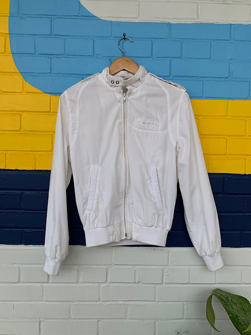 White Members Only Style Jacket