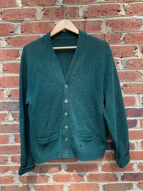 Green Cardigan with elbow patches