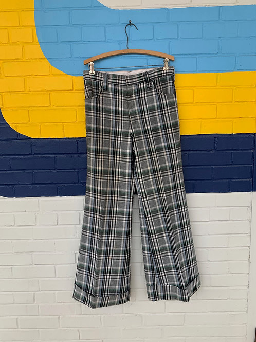 70's Wrangler Plaid Bell Bottoms