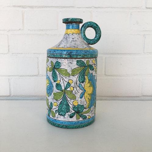 Italian Ceramic Jar With Lid