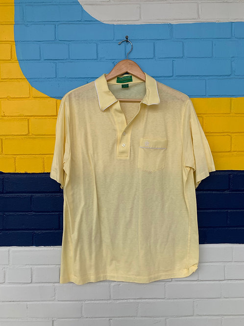 Vintage Yellow Grand Slam Polo Style Shirt