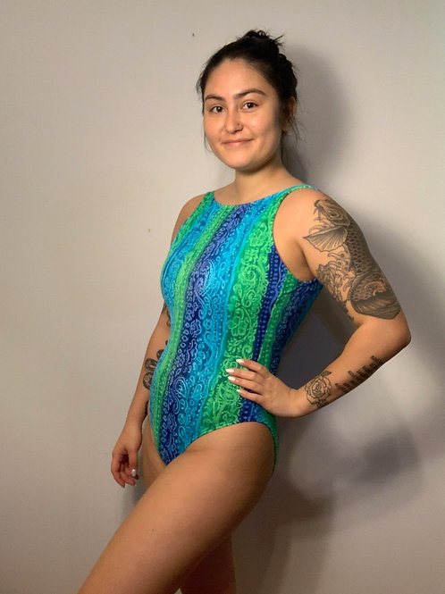 Green and Blue Swim