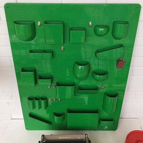 Dorothy Maurer Beck Rare Green Plastic Wall Organizer UTENSILO