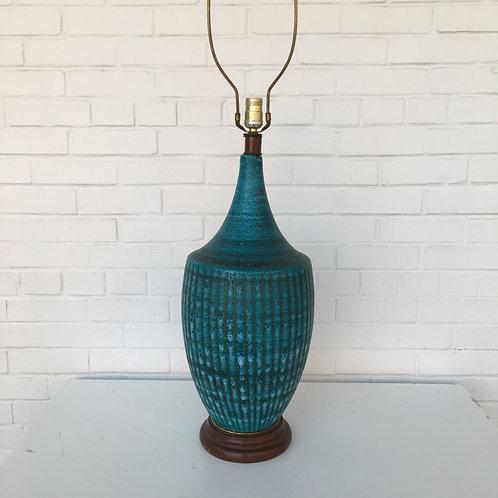 Monumental Italian Pottery Lamp