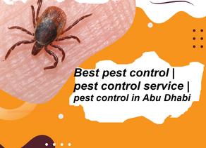 guarantee of pest control service in Abu Dhabi