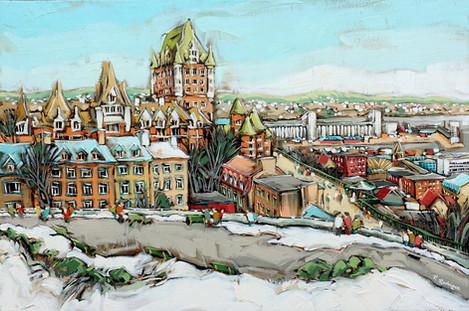 Première neige sur Québec
