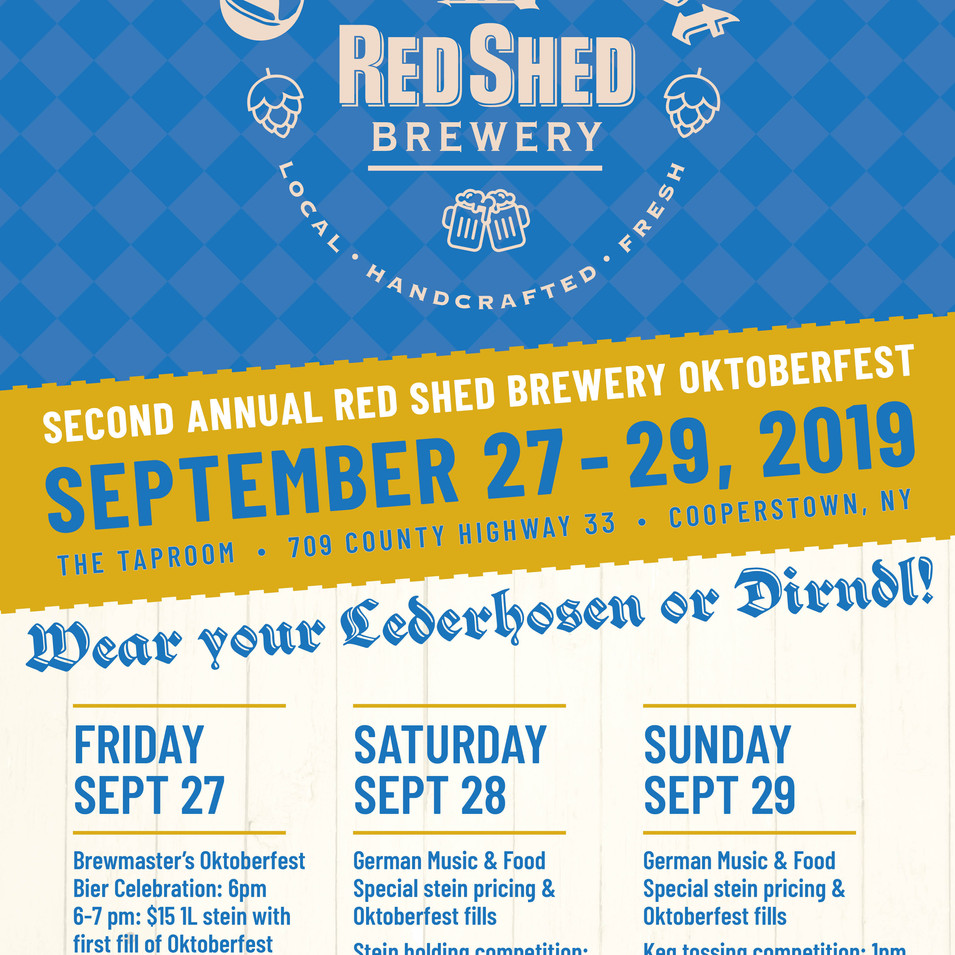 Red Shed Oktoberfest 2019 Poster