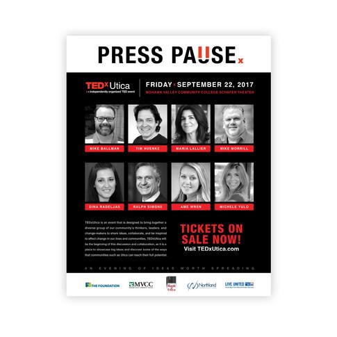 TEDx Utica Press Pause Poster