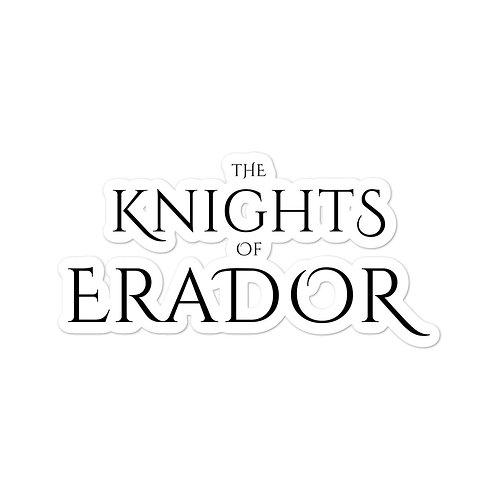 The Knights of Erador sticker