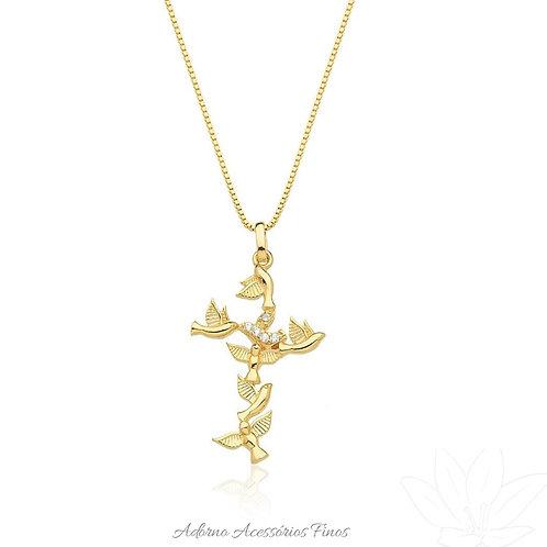 Colar cruz Divino Espírito santo