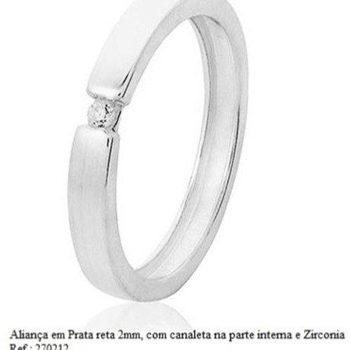 Aliança Prata 925/950 Zirconia