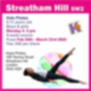 Kids Pilates-Streham Hill February 2020.