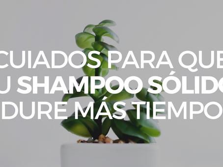 Cuidados para tu shampoo sólido