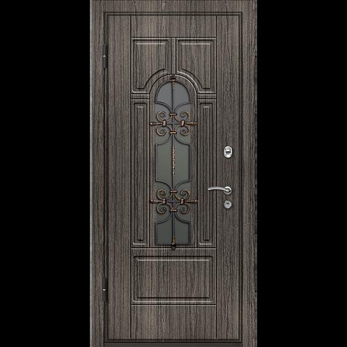 Входная дверь Легран Волкодав с ковкой Арка база-44