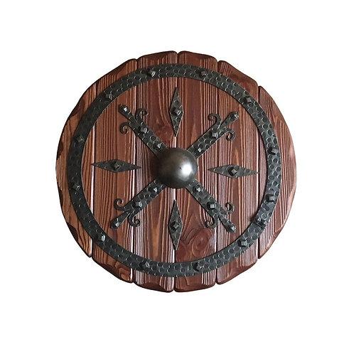 Щит декоративный Круглый с элементами ковки