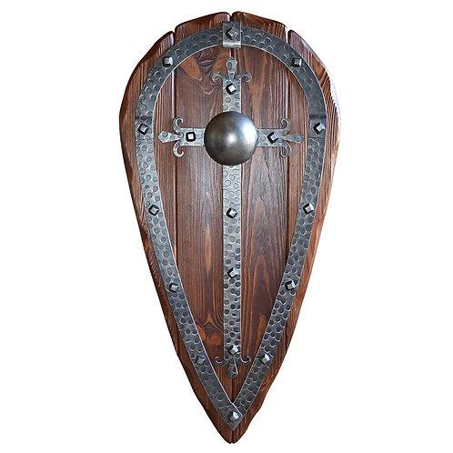 Щит декоративный Капля с элементами ковки