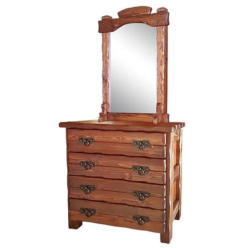 Комод Барин 2 (4 ящика) с эл.ковки и зеркалом