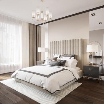 Современный дизайнерский ремонт спальни