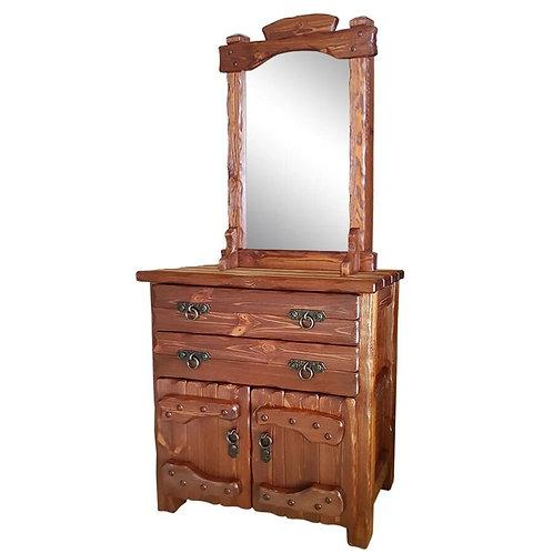 Комод Барин 1 (2 ящика+2 двери) с эл.ковки и зеркалом