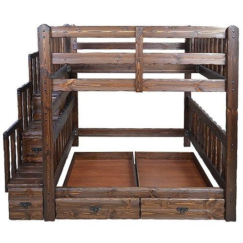 Кровать под старину Медведь двухъярусная