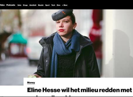 Eline Hesse wil het milieu redden met haar vaders oliegeld