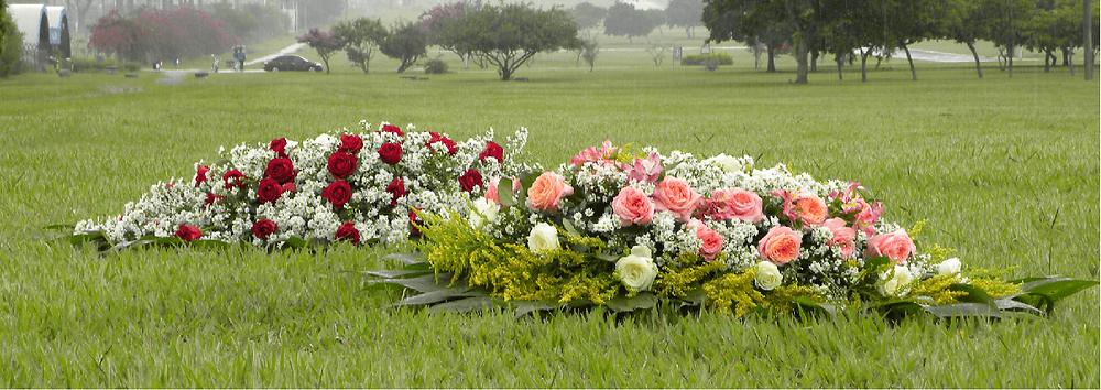 A homenagem se estende aos jazigos e cemitérios parques, dando um ar mais natural ao dia da visitação. Homenagear com coroa de flores é um gesto de amor e respeito a quem tanto nos amou.
