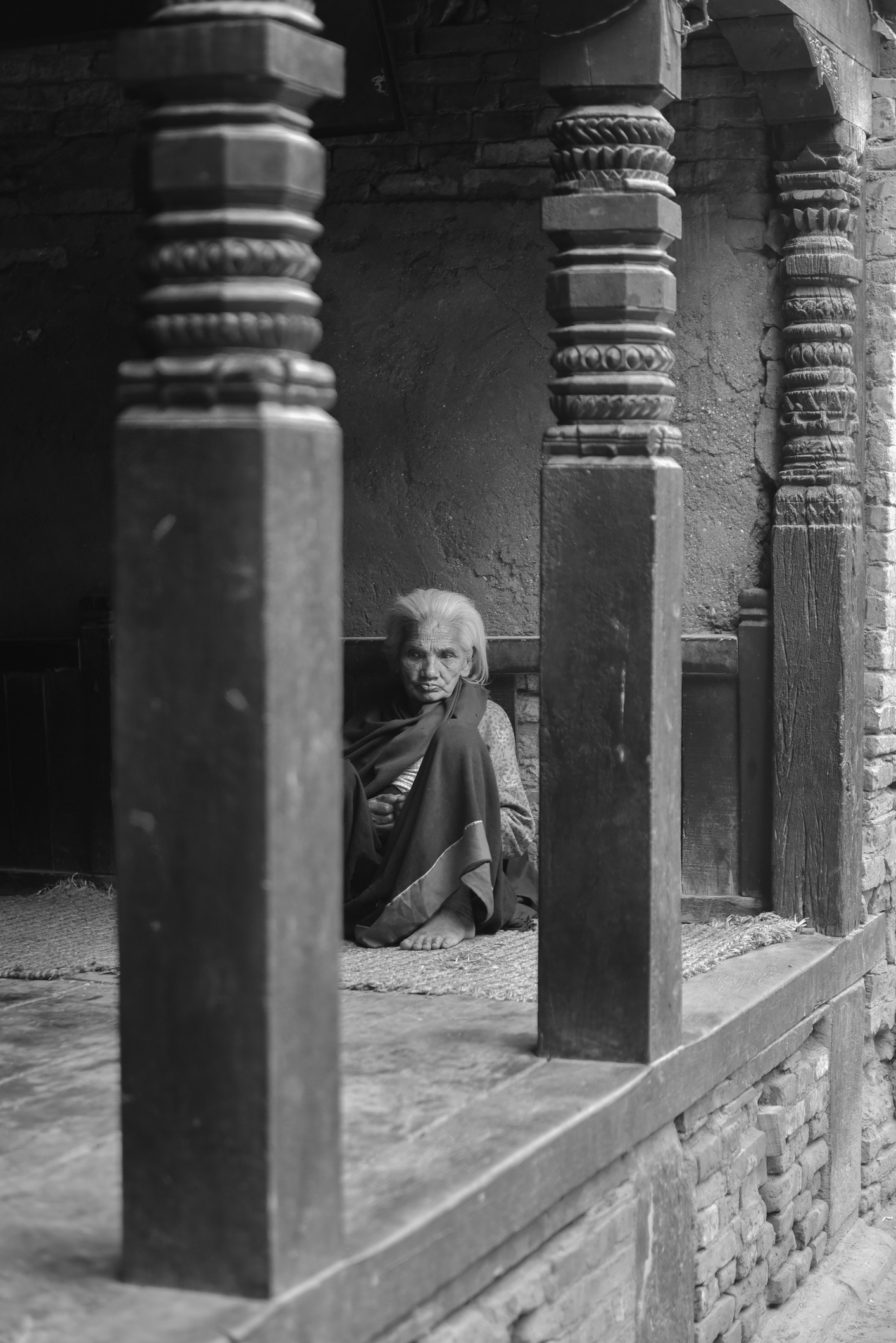 alte Frau Nepal