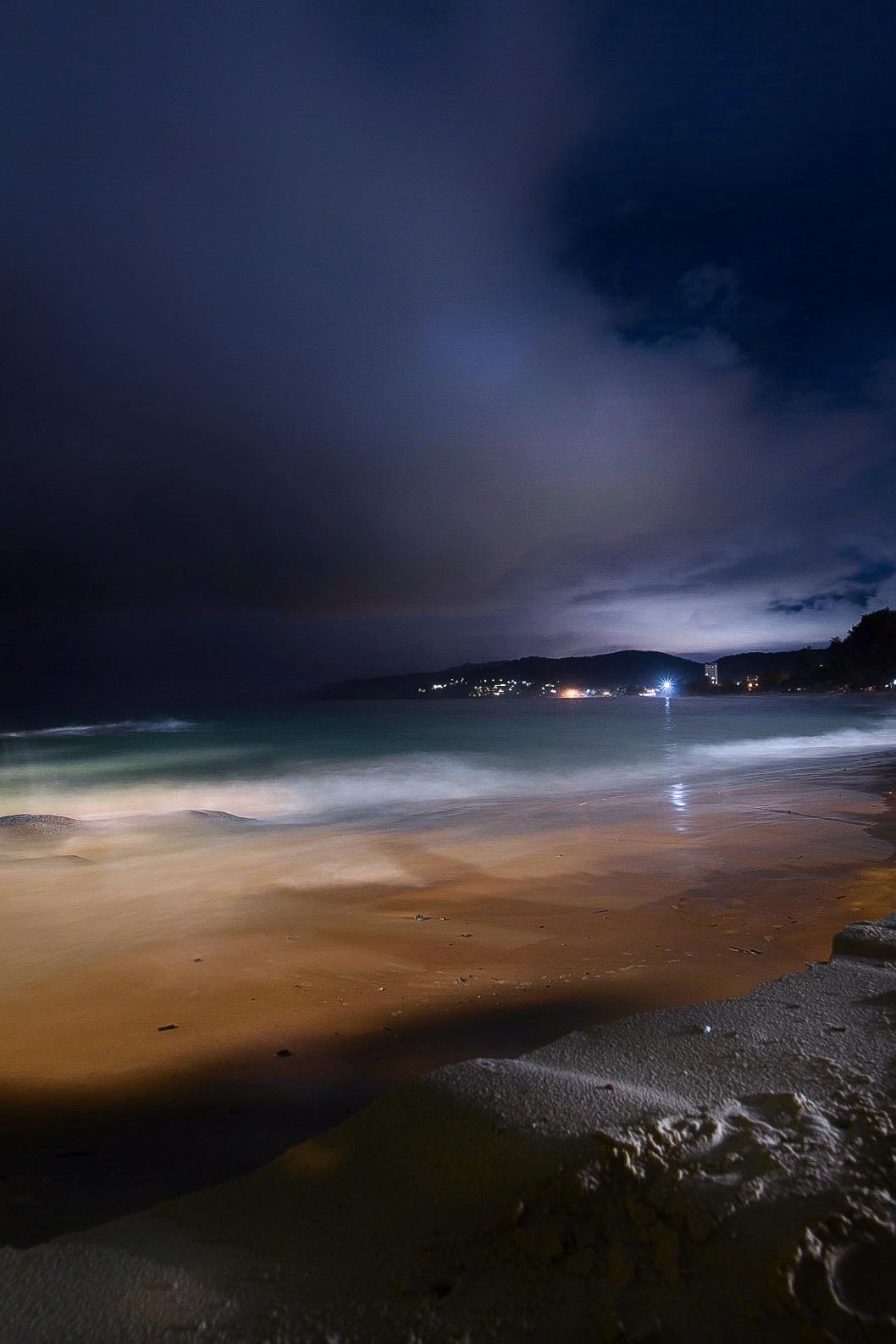 Thailand Strand bei Nacht