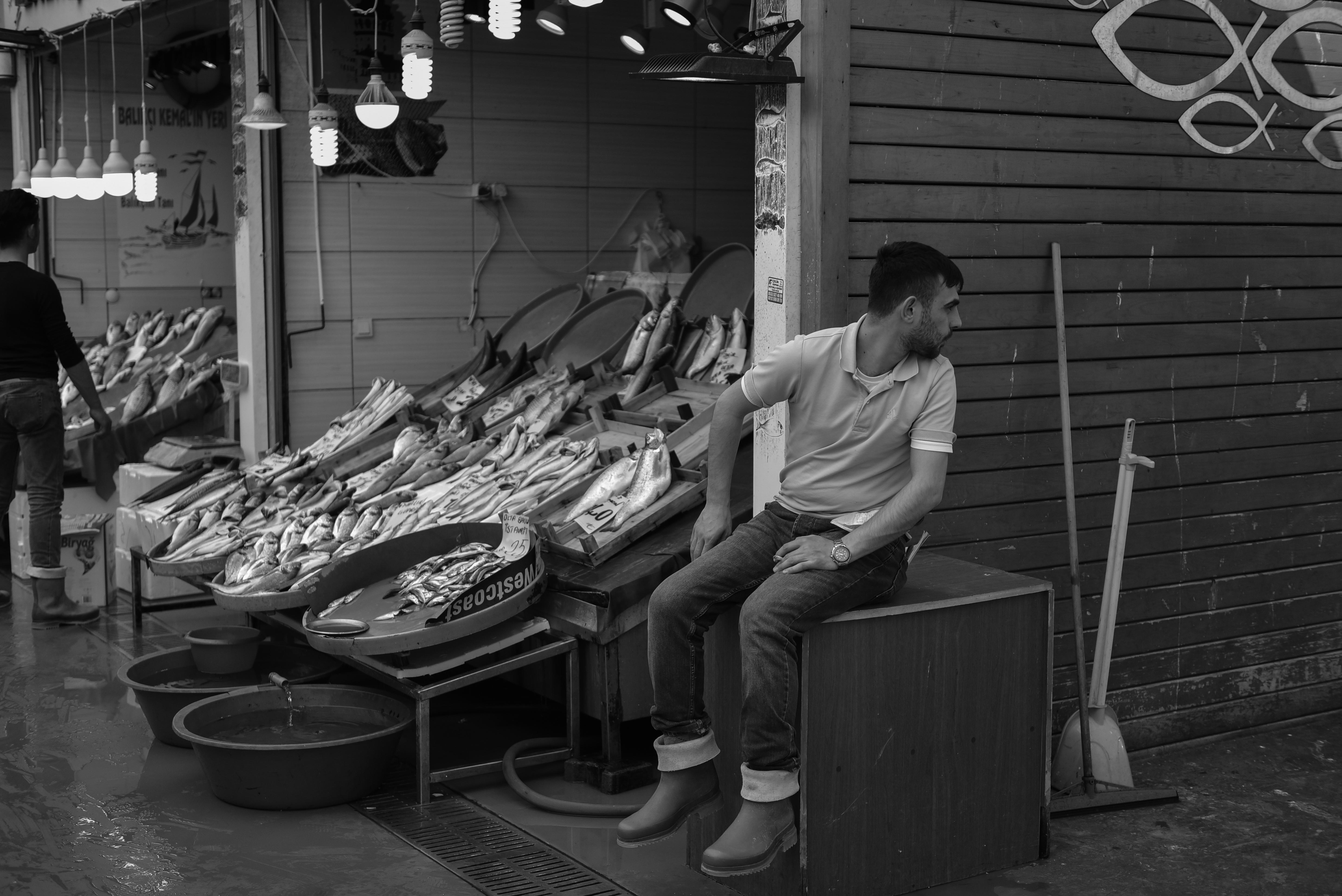 Fischverkäufer Istanbul