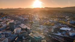 Flug über Aarau